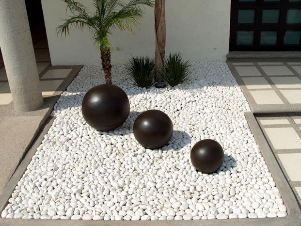 4 for Piedras redondas blancas para jardin